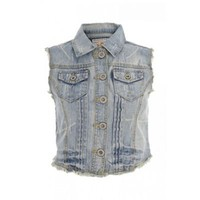 Light Blue Denim Waistcoat - Jackets - Coats &amp; jackets - Women -