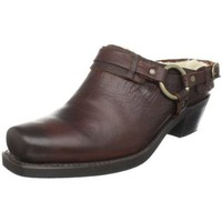 FRYE Women`s Belted Harness Mule Clog,Chocolate,6.5 M US