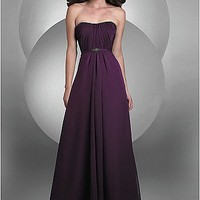 Buy discount Gorgeous Chiffon A-line Strapless Prom Gown at dressilyme.com