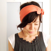 Tie Up Headscarf Tangerine by ChiChiDee on Etsy