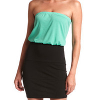 Charlotte Russe - Color Block Tube Dress