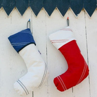 SailorBags Genuine Sailcloth Christmas Stocking