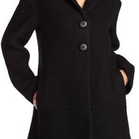 ABS by Allen Schwartz Women`s Knit Grandpa Coat