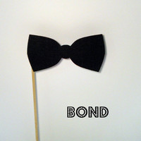 Photo booth prop bow tie on a stick by KittyDuneCuts on Etsy