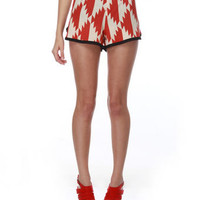 Cute Red Shorts - Print Shorts - $34.00