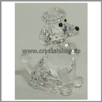 Swarovski Crystal Poodle Sitting Retired #181317