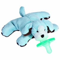 "Mary Meyer Wubbanub 6"" Sweet Chocolate Plush Pacifier, Blue Puppy"