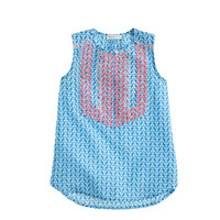 GIRLS' EMBROIDERED TANK IN ARROW PRINT