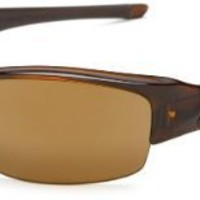 Oakley Men`s Flak Jacket Chrome Iridium Polarized Sunglasses