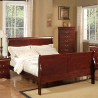 Louis Philippe Ii Louis Phillippe California King Sleigh Bed in Cherry