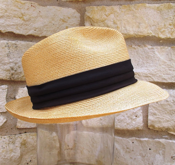 Vintage Stetson Hat Dress Straw Hat