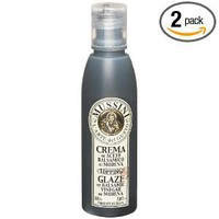 Mussini Crema, Glaze of Balsamic Vinegar of Modena, 5.07-Ounce Bottles (Pack of 2)