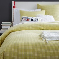 Tile Style Duvet Cover + Shams - Sun Yellow