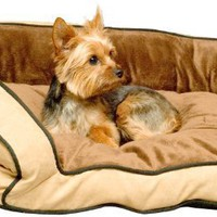 K&H Bolster Couch Pet Bed, Large 28-Inch by 40-Inch, Mocha/Tan