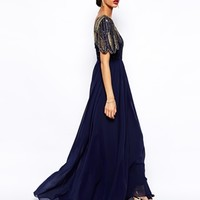 Virgos Lounge Lena Maxi Dress With Embellishment