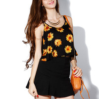 Papaya Clothing Online :: SUNFLOWER CROP CAMI