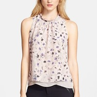 Rebecca Taylor Sleeveless Print Top | Nordstrom