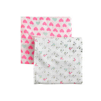 ADEN + ANAIS® FOR CREWCUTS SWADDLE BLANKETS TWO-PACK