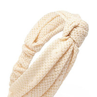Knotted Open-Knit Headwrap