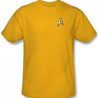Star Trek Command Gold Uniform T-Shirt