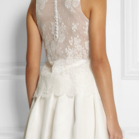 Rime Arodaky | Gatsby lace and crepe top | NET-A-PORTER.COM