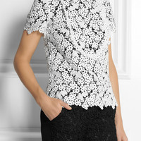 Erdem | Deacon embroidered lace top | NET-A-PORTER.COM