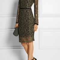 DAY Birger et Mikkelsen | Grosgrain-trimmed embroidered lace dress | NET-A-PORTER.COM