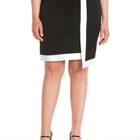 Lane Collection Asymmetric Pencil Skirt | Lane Bryant