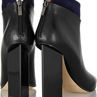 Jimmy Choo | Legion suede-trimmed leather ankle boots | NET-A-PORTER.COM