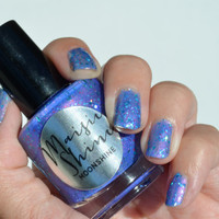 Nail Polish Moonshine Purple Blue Polish with Teal by MaisieShine