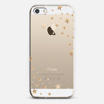STARSHOWER GOLD Crystal Clear iphone case iPhone 5s case by Monika Strigel | Casetify