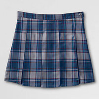 Girls' Plaid Box Pleat Skirt (Top of the Knee) from Lands' End