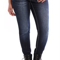 Plus Size Z Co Skinny Jean with White Leather Accents