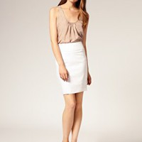 ASOS | ASOS Tailored Linen Pleat Waist Pencil Skirt at ASOS