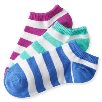 3-Pack Stripe Ped Socks