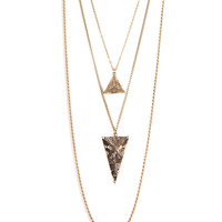 TRIANGLE PYRAMID LAYERED NECKLACE