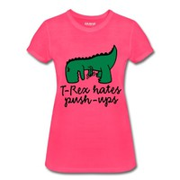 T-Rex hates push-ups Women's Performance T-Shirt
