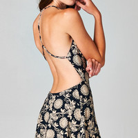 BACKLESS GARDEN PRINT DRESS