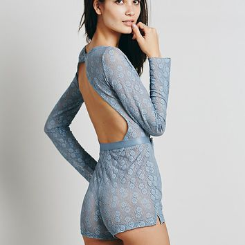 Intimately Womens Movie Date Romper - Moon Blue,