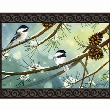 Chickadees and Pine Mat Mate