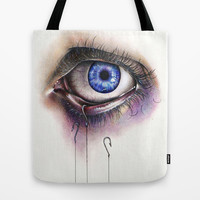 You Caught My Eye Tote Bag by KatePowellArt