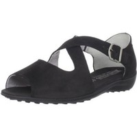 Mephisto Women`s Goya Flat,Black Bucksoft,8.5 M US