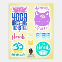 Namaste Yoga Stickers