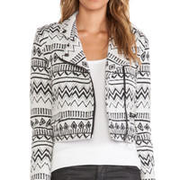 Capulet Moto Jacket in Black & White