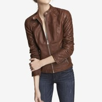 (MINUS THE) LEATHER QUILTED SLEEVE JACKET