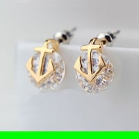 Anchored Diamond Fashion Earrings