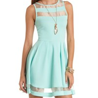 ORGANZA CUT-OUT SKATER DRESS