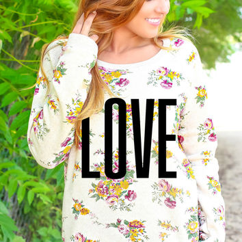 Love - Floral Pullover