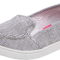 Roxy Women`s Lido Loafer,Black/White Stripe,8 M US