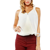 Papaya Clothing Online :: SHIRRING BANDED STUD TOP